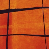 Earth Lines Orange Rockface Weave- 147X152cm