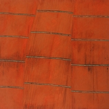 Earth Lines Orange Mat/Cliff- 147X152cm
