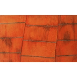 Earth Lines Orange Mat/Cliff #3- 91X152cm